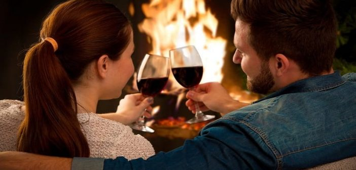 date night, fireplace, wine, romantic getaway