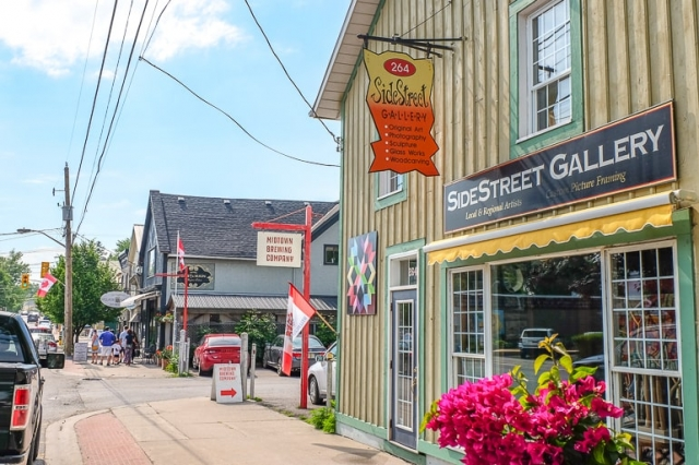 charming small town, Bloomfield, Southern Ontario